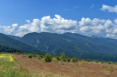 Amazing panoramic mountain vista Stock Photography