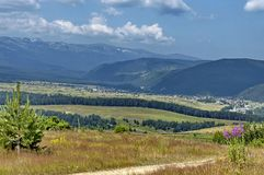Amazing panoramic mountain vista. Stock Images