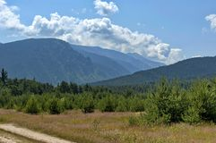 Amazing panoramic mountain vista royalty free stock photography