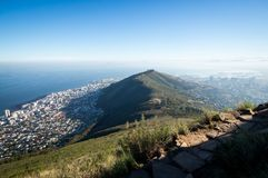 Amazing panoramic view from the top of Lions Head stock photo