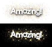 Amazing paper banner. Amazing paper banner with shining sand. Vector illustration Royalty Free Stock Images