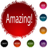 Amazing People Circle Set. An image of a amazing people circle icon set Royalty Free Stock Image