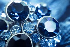 Amazing photo of the precious sapphires Stock Photography