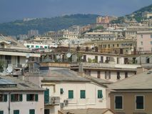 An amazing photography of some public housing. In Genova built in the 60s over hills of the city royalty free stock image