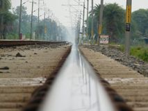 Railway track. Amazing picture of railway track indian Royalty Free Stock Photos