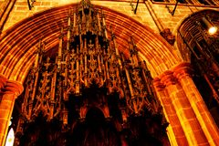 Organ, the sound of angels. The amazing pipes of the chester cathedral organ stock images