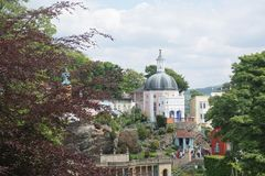 Domed house in Portmeirion, North Wales Royalty Free Stock Images