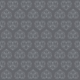 Amazing poly heart grey vintage geometric outline pattern Stock Image