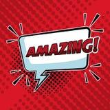 Amazing pop art. Colorful vector illustration graphic design speech bubble Stock Photos