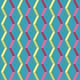 Amazing pop-art colorful vintage geometric element pattern stock illustration