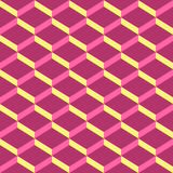 Amazing pop-art pink vintage geometric element pattern Royalty Free Stock Photos
