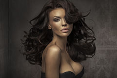 Amazing portrait of sensual woman royalty free stock images