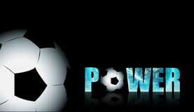 Amazing power the football or soccer. Microstock ball vector image with semi-dimensional design and soft color alloy. You are eligible to download this image Stock Photos