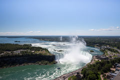 The amazing power of Niagara Falls from the Canadian side Royalty Free Stock Photos