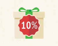 Amazing present box with discount Stock Photos
