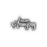 amazing Puntillismo, dotworking - impresión de la caligrafía Frase de encargo única libre illustration