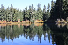 Amazing quiet Clear lake, Oregon Stock Photos