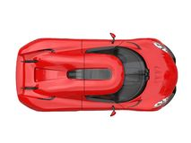Amazing raging red supercar - top down view Stock Image