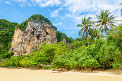 Amazing Railay Beach with mogote Krabi, Thailand Stock Photos