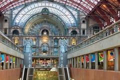 Amazing railway station in Antwerp Stock Photos