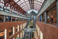 Amazing railway station in Antwerp Stock Photography