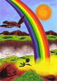 Amazing Rainbow (2012) Stock Photography
