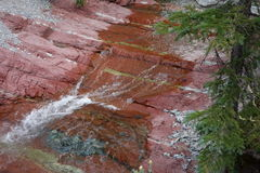 The amazing red rock canyon at waterton park. Royalty Free Stock Images