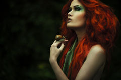 Amazing redhaired fashion women Stock Photo