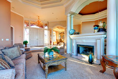 Amazing rich interior with antique furniture Royalty Free Stock Photography