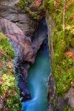 Amazing river in the mountains, Mostnica Korita, Julia alps Royalty Free Stock Photos