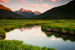 Amazing River in the Uinta mountains. Stock Image