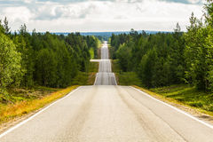 Amazing road in Finland. Up and down Royalty Free Stock Photo