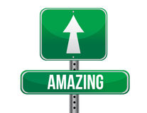 Amazing road sign illustration design Stock Images