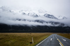 Amazing Road to Milford Sound Stock Photo