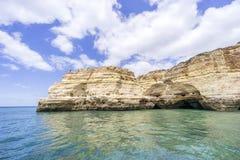 Amazing rock formation on Atlantic coast in Algarve, Portugal stock photo