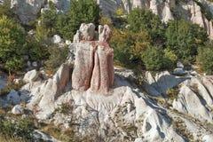 Rock formation Stone Wedding near town of Kardzhali, Bulgaria stock photo