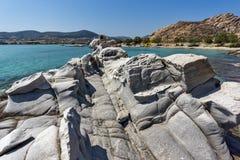Amazing rock formations in kolymbithres beach, Paros island, Greece Stock Photo