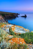 Amazing rocky coastline Stock Photography