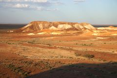 Amazing rocky landscape. High angle view over amazing rocky landscape. The Breakaways, Coober pedy, South Australia Royalty Free Stock Photo