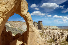 Amazing rocky landscape in Cappadocia, Turkey Stock Images