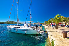 Amazing Rogoznica sailing destination waterfront Stock Image