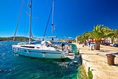 Amazing Rogoznica sailing destination waterfront Stock Image