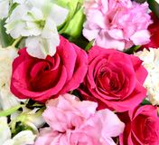 Amazing bouquet romantic flowers. Amazing roses red Royalty Free Stock Photos