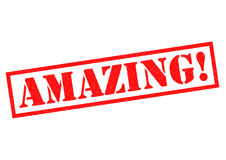 AMAZING! Rubber Stamp Royalty Free Stock Image