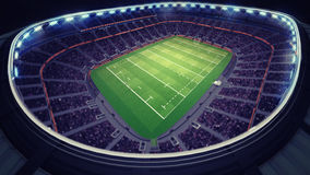 Amazing rugby stadium with fans under roof Stock Images