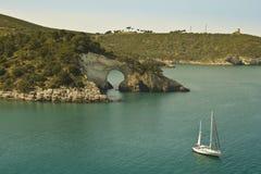 Amazing sailing boat,landscape,panorama Royalty Free Stock Photos