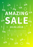 Amazing Sale vector banner with linear elements Royalty Free Stock Photos