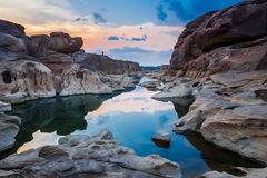 Amazing sam phan bok and grand canyon in Thailand. Stock Photography