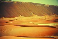 Amazing sand dune formations in Liwa oasis, United Arab Emirates Stock Photo