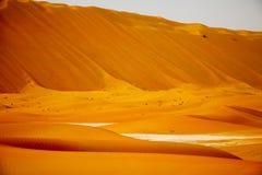 Amazing sand dune formations in Liwa oasis, United Arab Emirates Stock Images